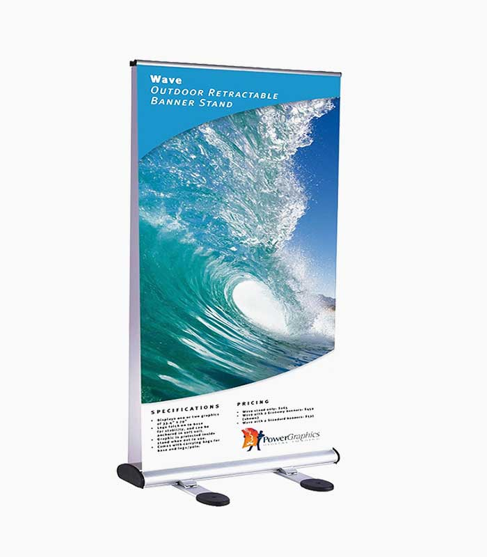 AMS-48″ Retractable Banner Stand Image