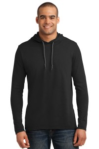 Anvil 100% Ring Spun Cotton Long Sleeve Hooded T-Shirt. 987