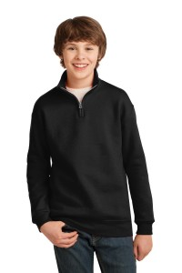 JERZEES Youth 1/4-Zip Cadet Collar Sweatshirt. 995Y