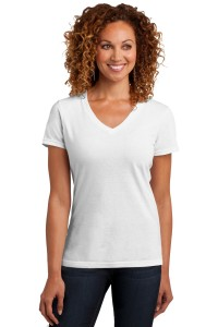 District Made Ladies Perfect Blend V-Neck Tee. DM1190L