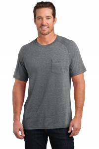 District Made Mens Tri-Blend Pocket Tee. DM340