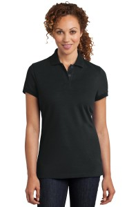 District Made Ladies Stretch Pique Polo. DM425