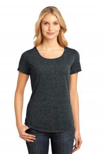 District Made - Ladies Tri-Blend Lace Tee. DM441