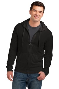 District Young Mens Jersey Full-Zip Hoodie. DT1100