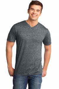 District - Young Mens Microburn V-Neck Tee. DT161