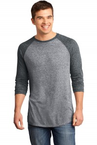 District - Young Mens Microburn 3/4-Sleeve Raglan Tee. DT162