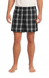 District - Young Mens Flannel Plaid Boxer. DT1801