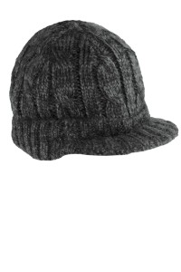 District - Cabled Brimmed Hat. DT628