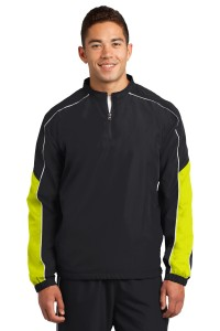 Sport-Tek Piped Colorblock 1/4-Zip Wind Shirt. JST64
