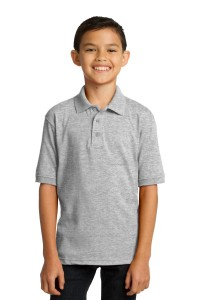 Port & Company Youth 5.5-Ounce Jersey Knit Polo. KP55Y
