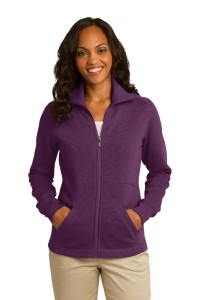Port Authority Ladies Slub Fleece Full-Zip Jacket. L293