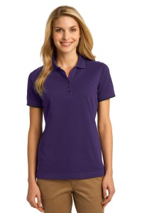 Port Authority Ladies Rapid Dry Tipped Polo. L454