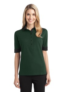 CLOSEOUT Port Authority Ladies Silk Touch Colorblock Polo. L529