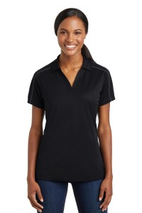 Sport-Tek Ladies Micropique Sport-Wick Piped Polo. LST653
