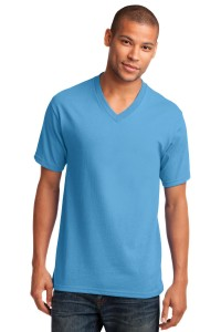 Port & Company 5.4-oz 100% Cotton V-Neck T-Shirt. PC54V