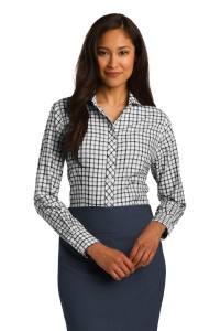 Red House Ladies Tricolor Check Non-Iron Shirt. RH75