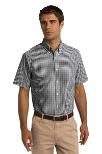 Port Authority Short Sleeve Gingham Easy Care Shirt. S655