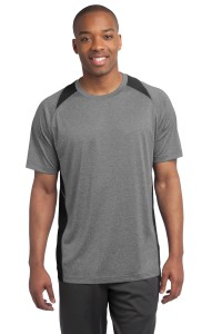 Sport-Tek Heather Colorblock Contender Tee. ST361