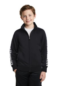 Sport-Tek Youth Dot Sublimation Tricot Track Jacket. YST93