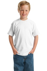 Hanes® - Youth EcoSmart® 50/50 Cotton/Poly T-Shirt.  5370