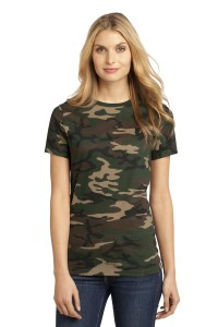District Made® - Ladies Perfect Weight® Camo Crew Tee DM104CL