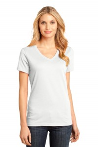 District Made® - Ladies Perfect Weight® V-Neck Tee. DM1170L