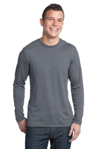 DISCONTINUED District® - Young Mens Textured Long Sleeve Tee. DT171