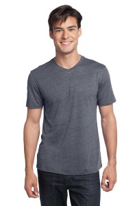 DISCONTINUED District® - Young Mens Textured Notch Crew Tee. DT172