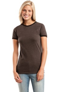 CLOSEOUT District® - Juniors Heathered Jersey Perfect Weight™ Ringer Tee.  DT225