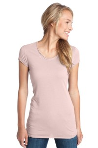 CLOSEOUT District® - Juniors 60/40 Tunic Tee. DT236