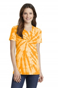 Port & Company® Ladies Essential Tie-Dye V-Neck Tee.  LPC147V