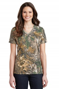 Russell Outdoors™ Realtree® Ladies 100% Cotton V-Neck T-Shirt. LRO54V