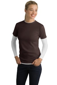 CLOSEOUT Sport-Tek® Ladies Long Sleeve Double Layer T-Shirt. LST306