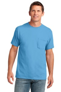 Port & Company® 5.4-oz 100% Cotton Pocket T-Shirt. PC54P