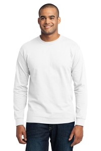 Port & Company® Tall Long Sleeve 50/50 Cotton/Poly T-Shirt. PC55LST