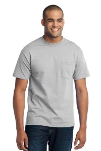 Port & Company® - 50/50 Cotton/Poly T-Shirt with Pocket. PC55P