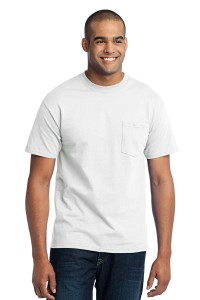 Port & Company® Tall 50/50 Cotton/Poly T-Shirt with Pocket. PC55PT