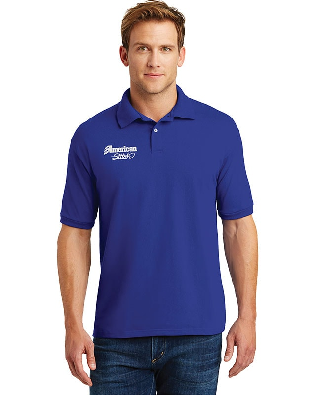 Custom Embroidery Location Blue Polo Right Chest