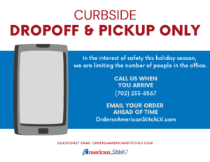 Curbside Pickup Only at American Stitch